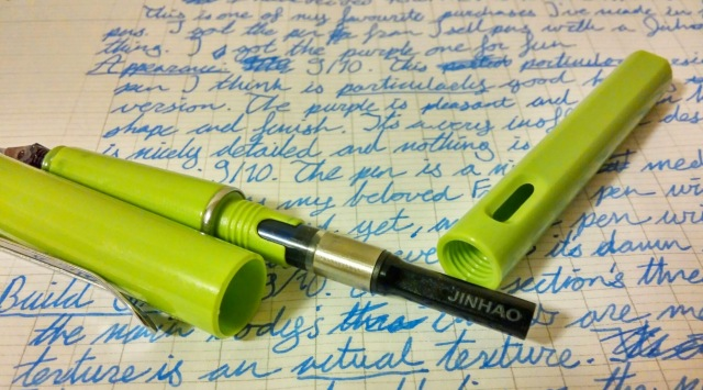 Take a look at that specially designed converter made just for this pen. It's made to mimic the Lamy converter.