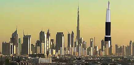 As we can see, the Dubai is in fact the tallest structure in Dubai.